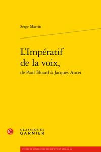Un essai aux éditions Classiques Garnier